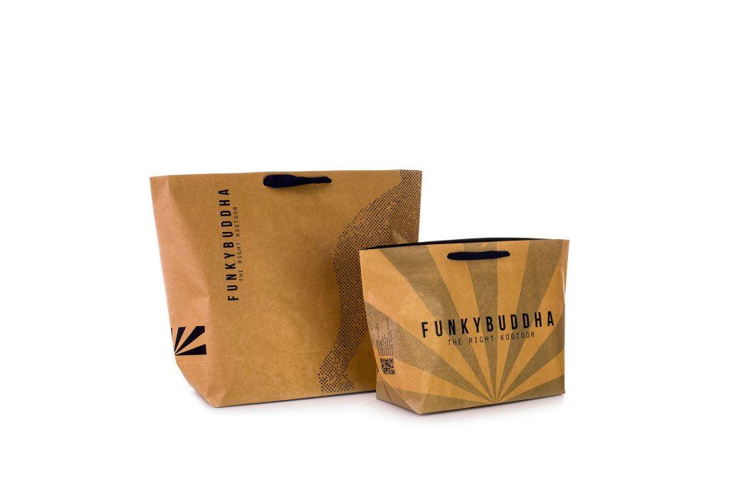 7f2373ab93 Χάρτινες Σακούλες Με Κορδόνι- Εκτυπωμένο με λογότυπο - Κράφτ