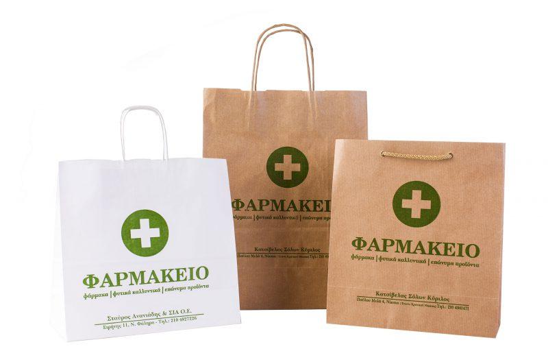 Χάρτινες Τσάντες, Σακούλες Για Καταστήματα