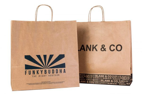 Κράφτ- Χάρτινες Σακούλες Με Στριφτό Χεράκι Μηχανοποιημένες για καταστήματα- υποδημάτων- ενδυμάτων