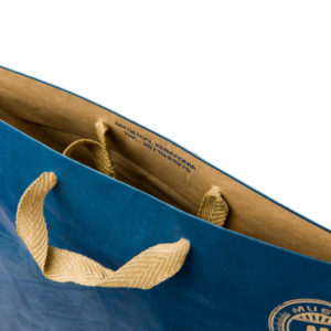 Χάρτινες Τσάντες Με Κορδόνι Για Κατάστημα σε μπλε